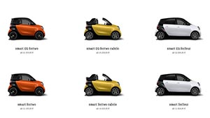 smart Highend 3D Car Configurator